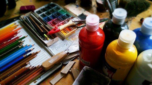 水彩画の道具